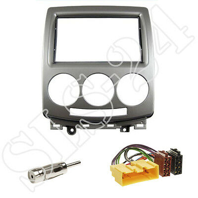 Mazda 5 (2006-2011) 2-DIN Radioblende + ISO Radio Adapter + Antennen Stecker