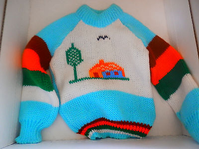 Child's Peruvian Sweater, Vintage, Handmade, Vintage Boy or Girl