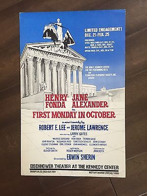 "14"" X 22"" Poster of the play ""First Monday in October""-Henry Fonda"