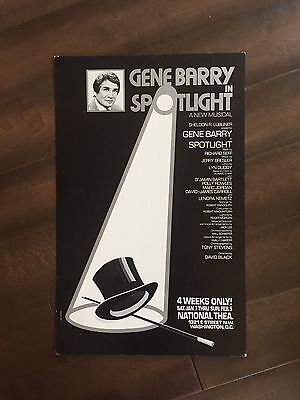 "14"" X 22"" Poster of the musical ""Spotlight"" with Gene Barry"