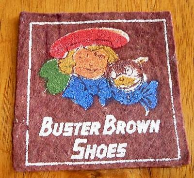 1940-50's Buster Brown Cloth, Felt Patch, Colorful Buster with Tige