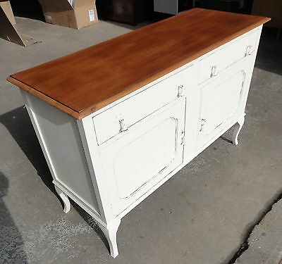 Antique Vintage Painted Shabby Chic Sideboard Cupboard With Drawers