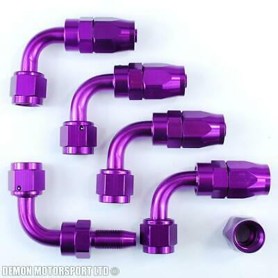 6AN -6 (AN6) 90 Degree Purple Hose Fitting (5 Pack)