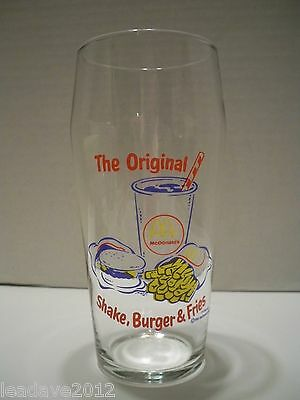 "McDonald's Glass ""The Original Shake, Burger & Fries"" 1995 Collectible Cup 16 oz"
