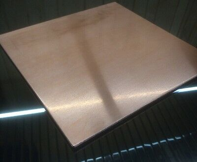 "1/8"" COPPER SHEET PLATE NEW 9""x9"" .125 THICK *CUSTOM 1/8 SIZES AVAILABLE*"
