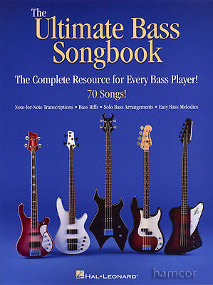 The Ultimate Bass Guitar Songbook TAB Music Book Pop Rock Classical Solo Riffs