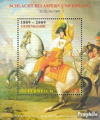Austria Block52 (complete.issue.) FDC 2009 Battle at Aspern and Essling