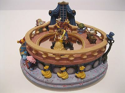 Disney Beauty & The Beast Music Box Magical Dancing Figurine Non Snowglobe