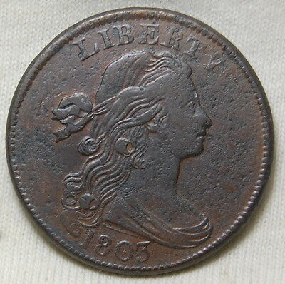 1803 Draped Bust Large Cent Xf Small Date Small Fraction #551