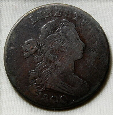 1800 Draped Bust Large Cent Vf 1C Us Coin