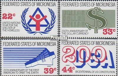 Mikronesien 68-71 (complete.issue.) unmounted mint / never hinged 1987 Years eve