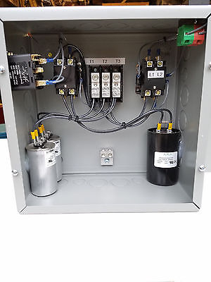 7.5hp Cnc Balanced 3 Phase Rotary Converter Panel