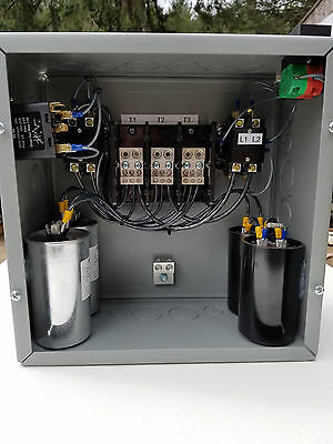 25hp Cnc Balanced 3 Phase Rotary Converter Panel