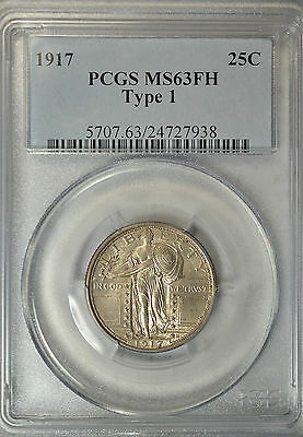 1917 Standing Liberty quarter, type I, PCGS MS63 FH