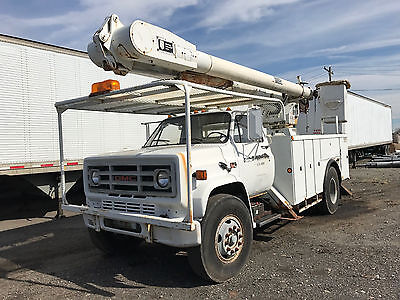 1989 GMC Topkick Bucket Truck Retired Military 8.2L Turbo Detroit Diesel 5 Spd