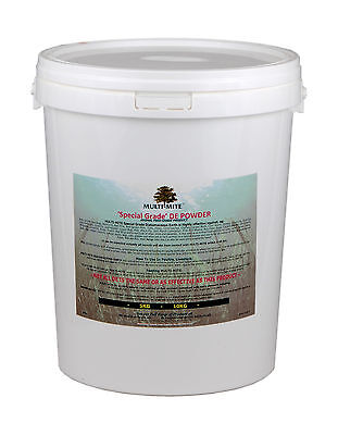 MULTI MITE® 10KG BKT DIATOMACEOUS EARTH Red Mite Worming DE Feed SUPPLEMENT