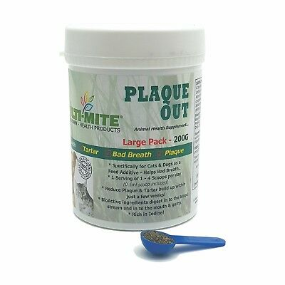 PLAQUE OUT Dogs and Cats 200G - Plaque Off Dogs Bad Breath and Tartar Removal