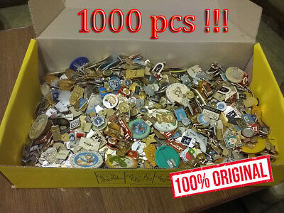 Set Lot of 1000 pcs.SOVIET RUSSIAN DIFFERENT mixed  BADGE PIN MEDAL USSR