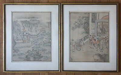 Antique Chinese Genre Paintings, 2
