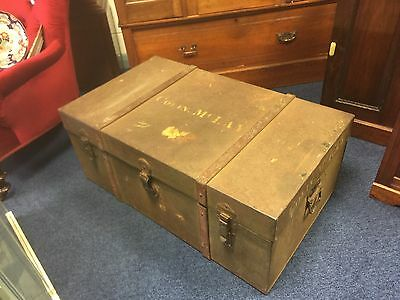 Nice Large Old Metal World War 1 Trunk. Open To Offers.