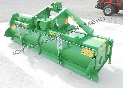 """Rotary Tiller, Heavy Duty Valentini U3000 10'-2"""" Tractor 3-Pt, PTO:140HP Gearbox"""