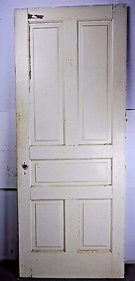 "Antique Vintage 5-Panel Interior Door 79"" X 31-5/8"" Early 1900's (T5)"