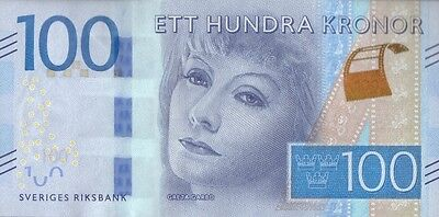 Sweden 100 Kronor 2016 P-New Uncirculated Greta Garbo
