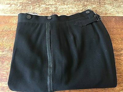1920's flat fronted dinner DJ trousers black barathea size 34 (DT1)