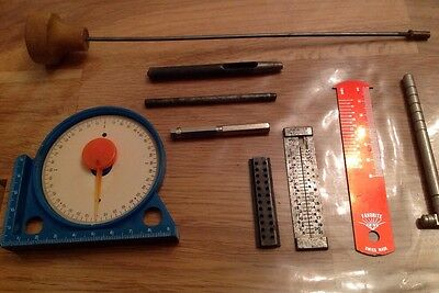 Selection Clockmakersor Watch Makers Tools Ex Spare Parts Chest