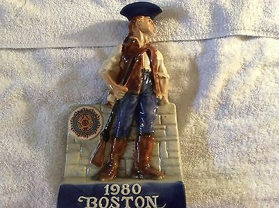 Limited edition 1980 Boston American Patriot soldier decanter porcelain