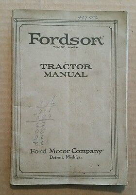 Fordson Tractor Owner's Manual,1923