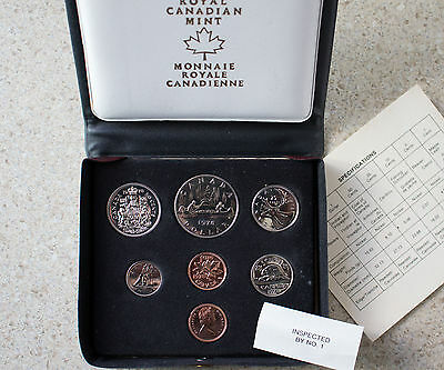 1978 7 Coin Canadian Double Penny RCM Canada Specimen Coin Set