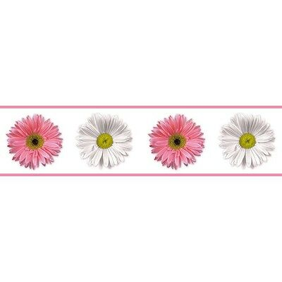 RoomMates Peel and Stick Border, Removable, Washable, Pink & White Daisies