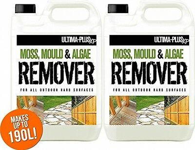 10L of Ultima-Plus XP Moss, Mould and Algae Killer - Cleaner, Remover, - For -