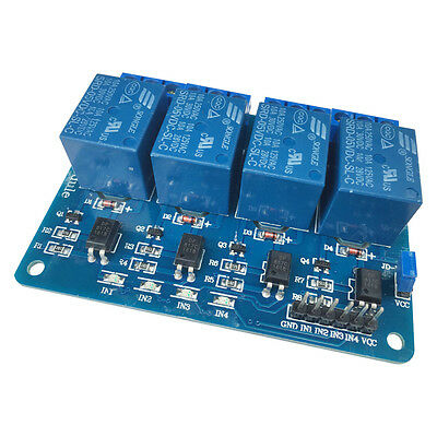 5V Four 4 Channel Relay Module with optocoupler for PIC AVR DSP ARM Arduino 8051