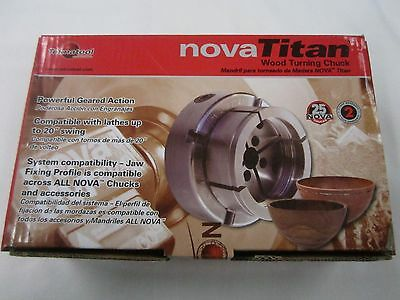 "NOVA Nova Titan II Chuck 1 1/4"" 8 TPI Direct Thread 13055 New"