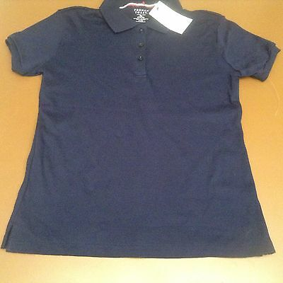 French Toast  XL 14/16 Official SchoolWear Navy Blue Short Sleeve Shirt NWT
