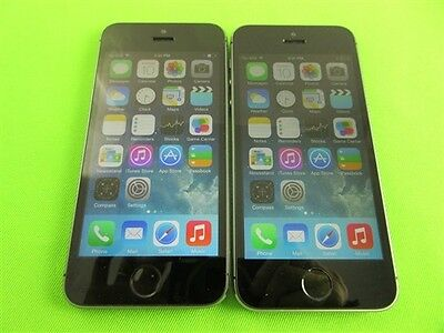 Lot 2 Apple iPhone 5S-16GB- FOR SPRINT Good Condition Space Gray Color