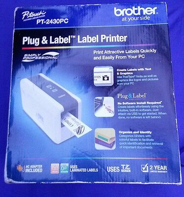 Brother P-Touch PT-2430PC Label Thermal Printer w/ Auto Cutter & 1 Roll of Tape