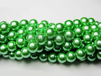 New Jewelry 100pcs Czech Glass Pearl Round Loose Charms Spacer Beads Making 4mm