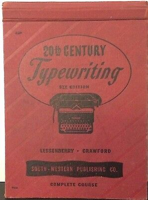 Vintage 1940s 20th Century Typewriting Book 5th Ed Lessenberry Crawford South-We