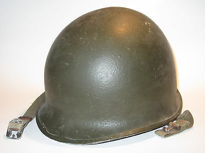 Original WWII US Military McCord fixed-bale M1 helmet