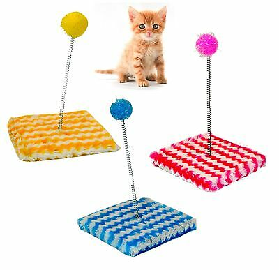 Cat Kitten Kitty Sway Toy Fun Play Pole Ball Activity Soft Post Tease Teaser Pet