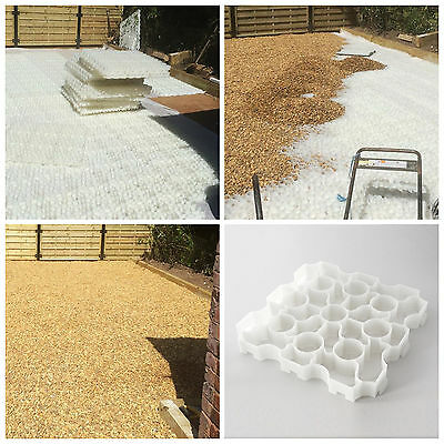 X-Grid White Plastic Grids Slabs Gravel Drive Path Permeable Drainage Eco Paving