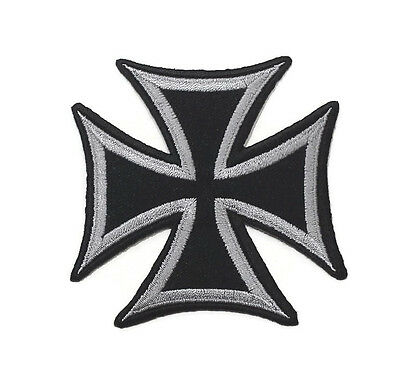 New Iron Cross Military Medal Logo Symbol Embroidered Iron On Patch Shirt Po541