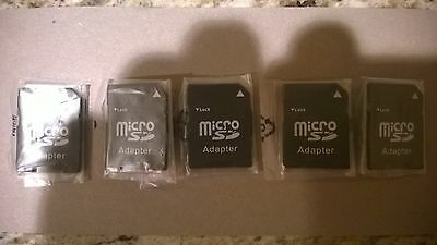NEW!  5  MICRO  SD  Adapters  -  Adapters Only
