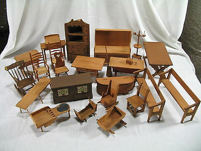 WPA Museum Extension Project: Models of Furniture, miniature handcrafted wood