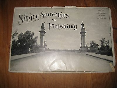 "1904 Singer Sewing Company ""Souvenirs of Pittsburg"" Card Set"