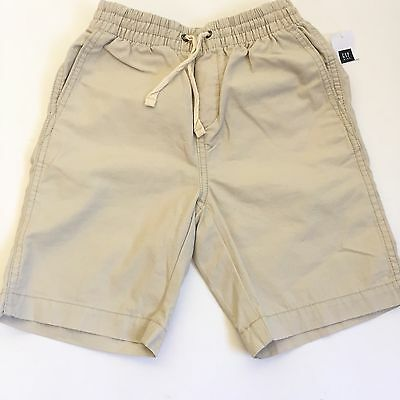 Gap Kids Boys Size S 6-7 Khaki Shorts Elastic Waistband Drawstring New