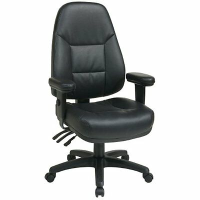 Office Star Professional Dual Function Ergonomic High Back Eco Leather Office